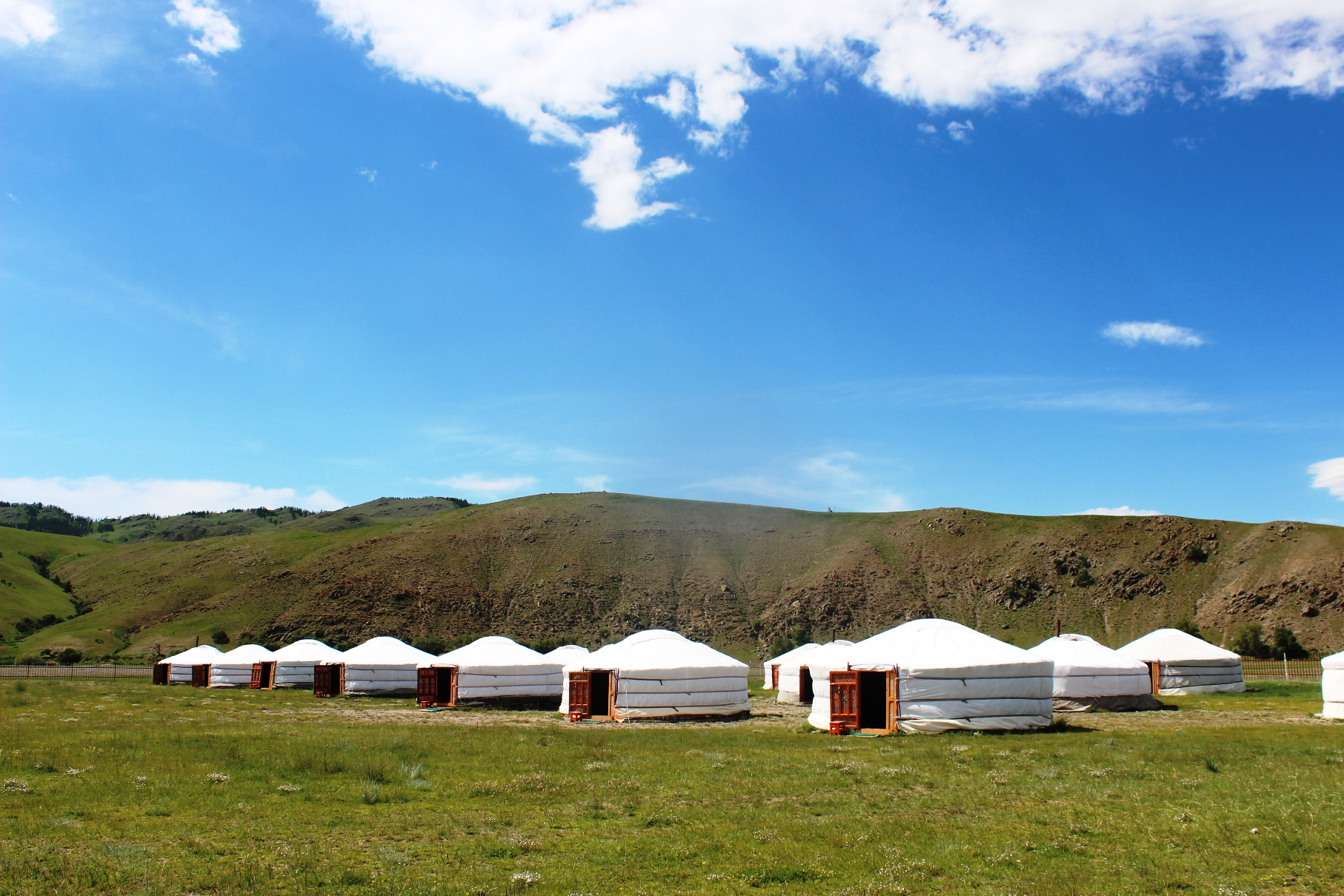 ゲル形式のツーリストキャンプ