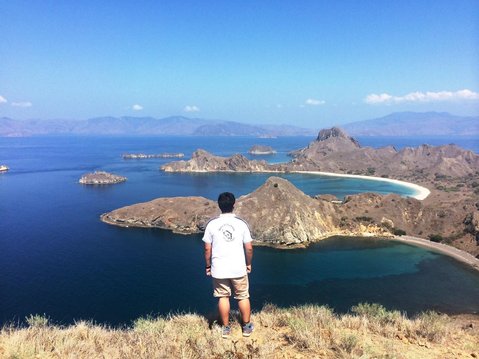 パダール島の小高い丘からの眺め(3日目)