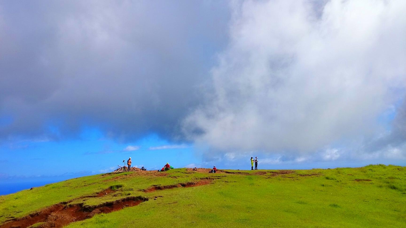イースター島の最高点マウンガ・テレヴァカ(507m)(2日目)