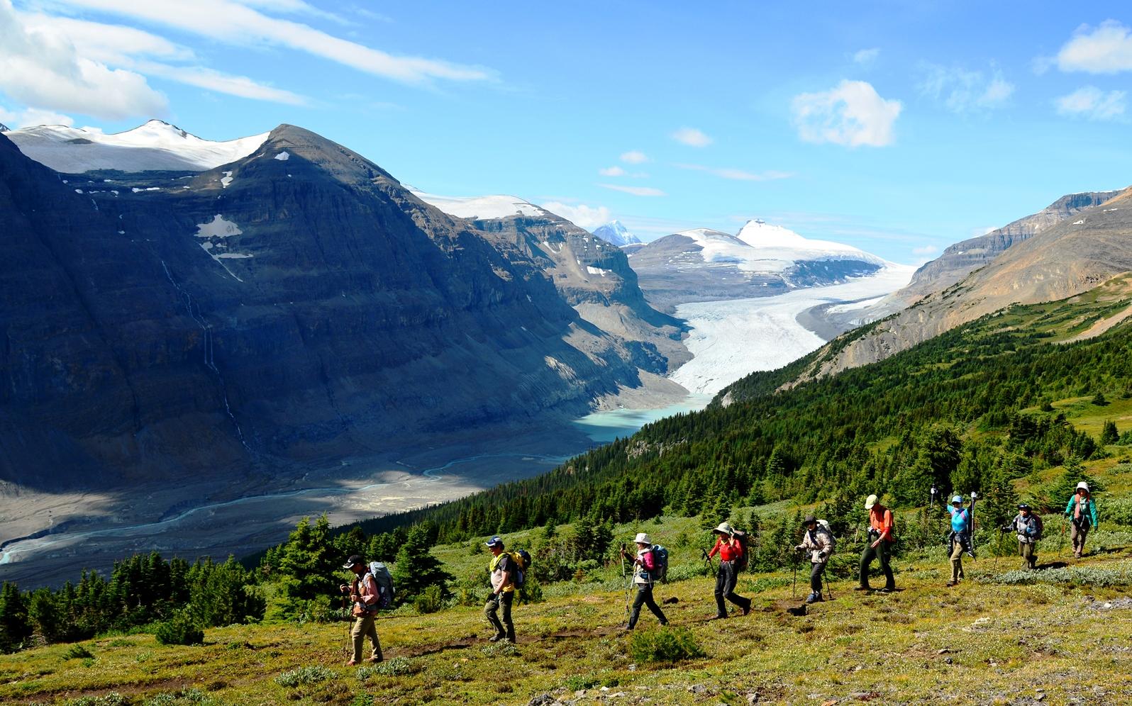 氷河をのぞむパーカーリッジ・ハイキング(5日目)