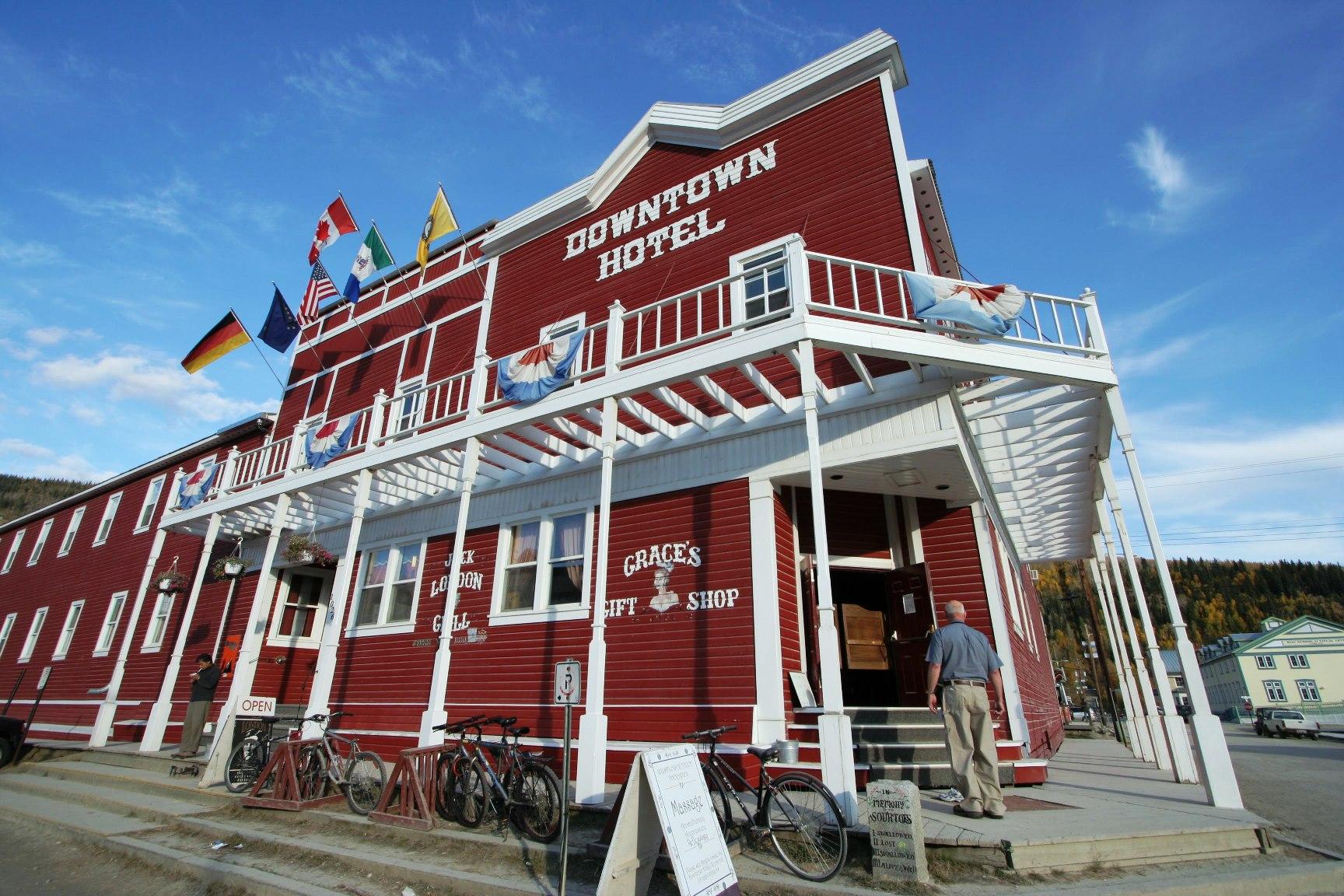 歴史の名残を残すドーソンシティに4連泊