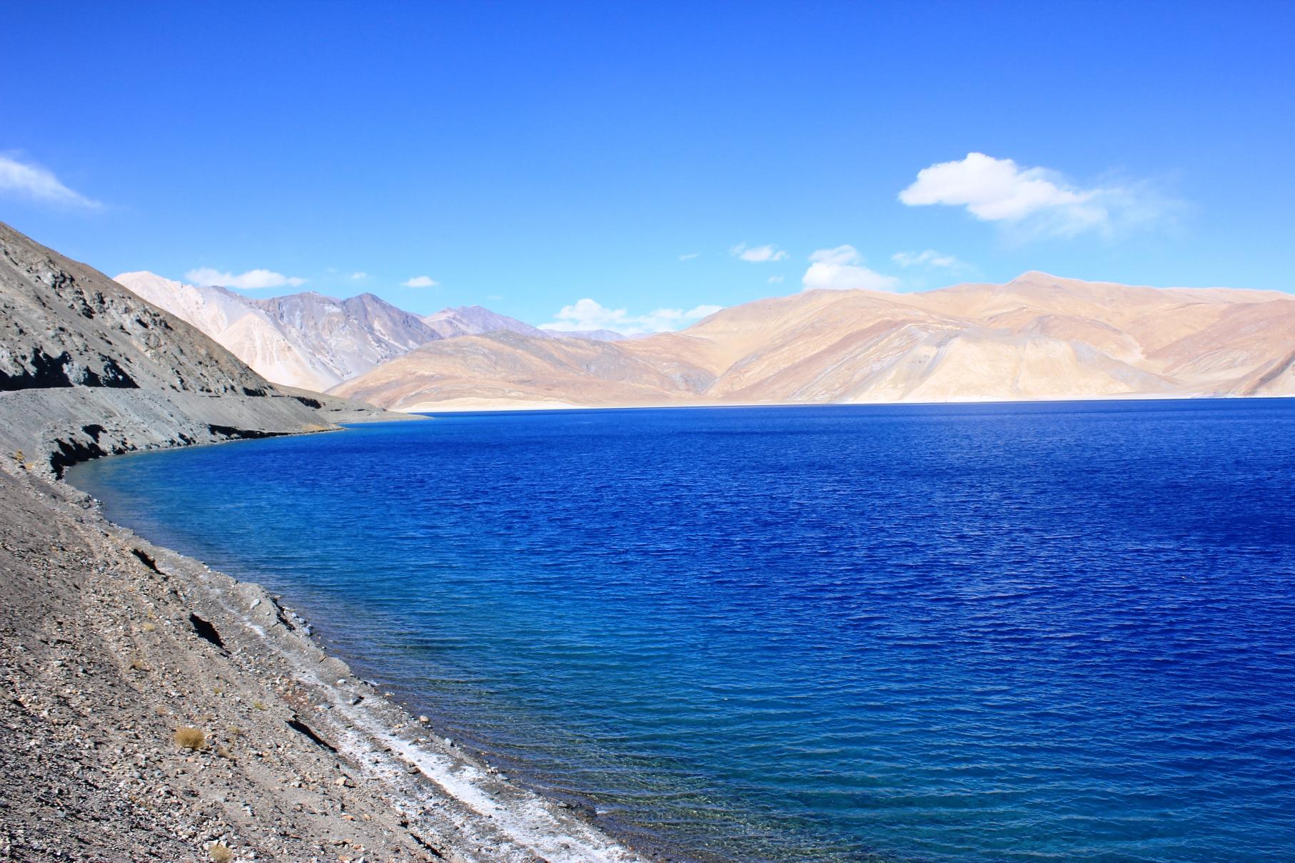 チベットとインド国境に位置する紺碧の湖パンゴンツォ(5日目)