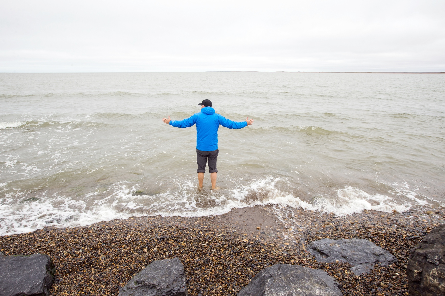 念願の北極海に到達!©colinfield_NWT