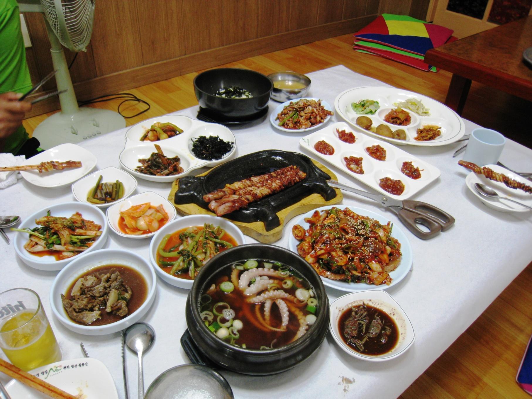 ナクチ(手長蛸)料理(2日目 夕食)
