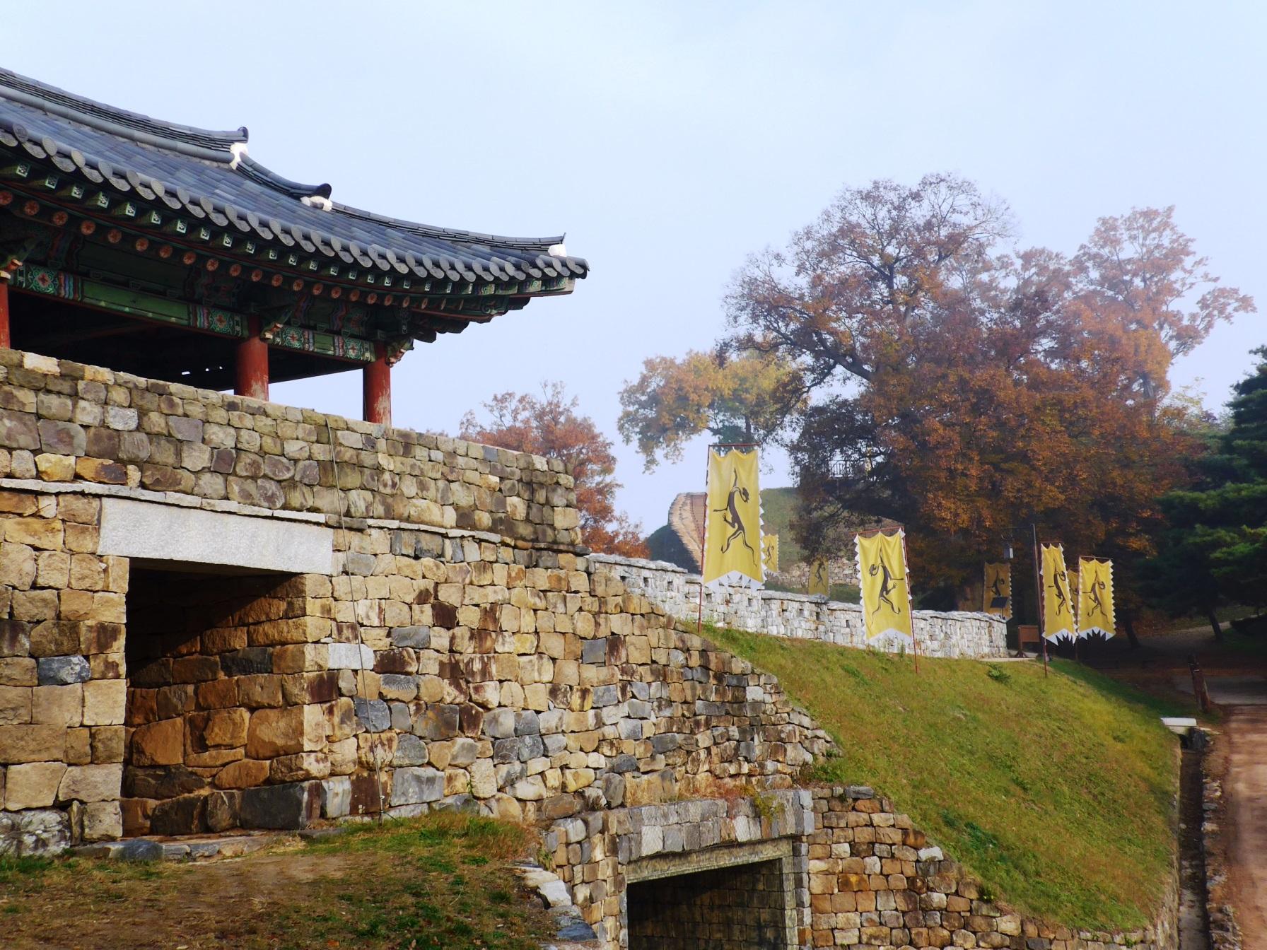 公山城(コンサンソン)の城壁(4日目)