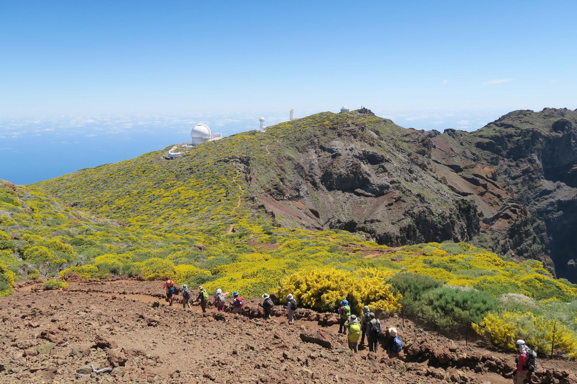 天文台のあるラ・パルマ島の最高峰周辺(7日目)