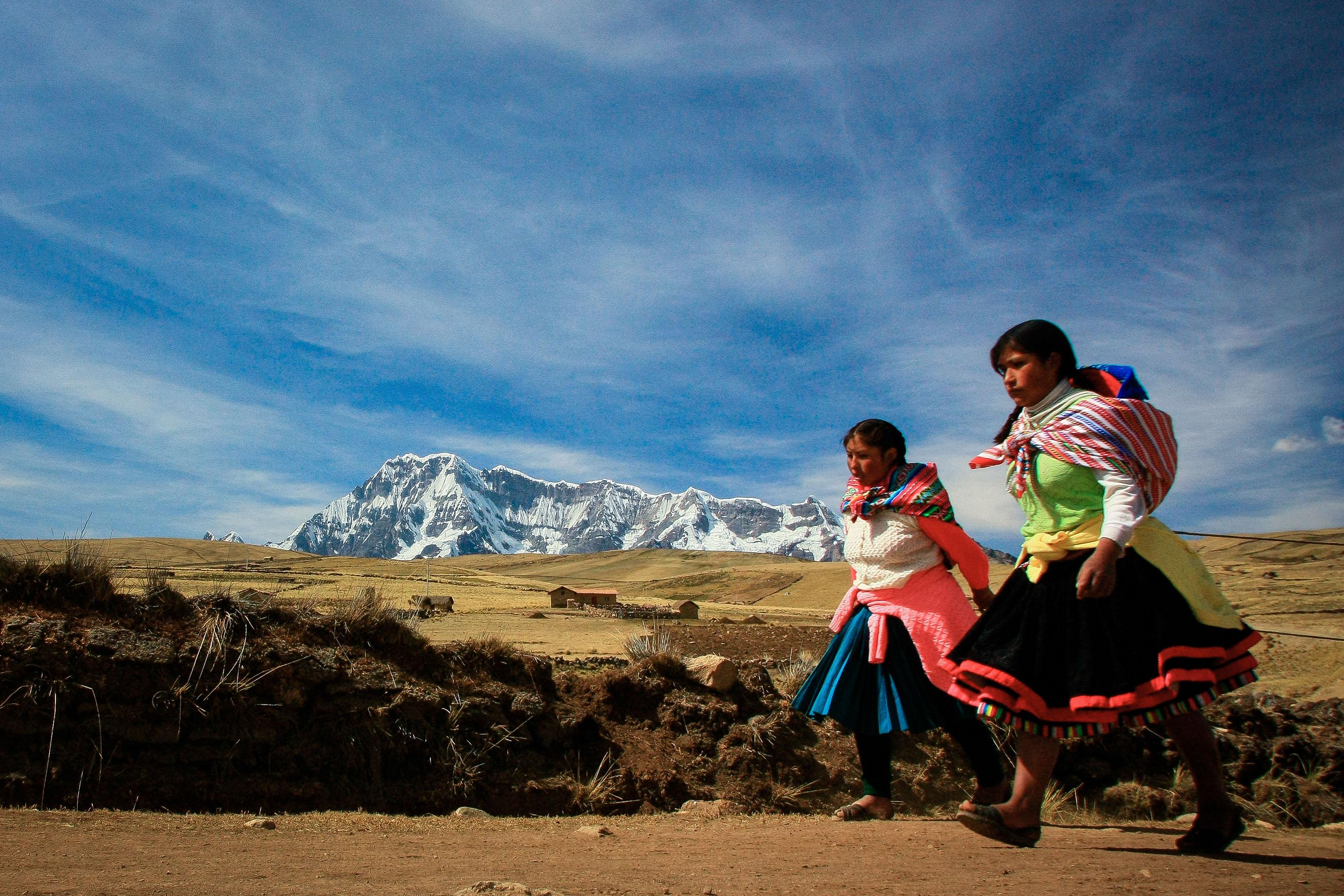 アンデス山麓に暮らすケチュア族の女性