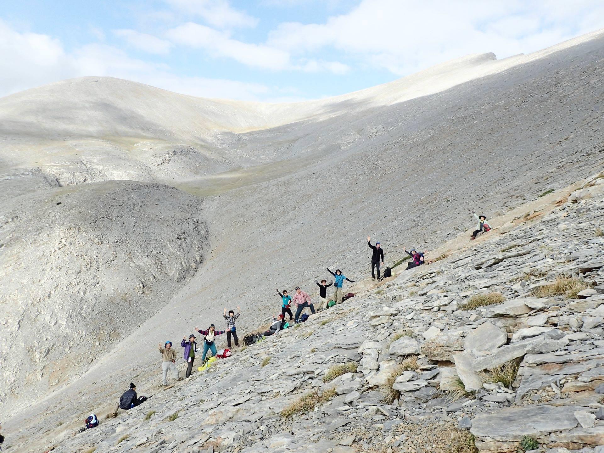 ギリシャ最高峰のピークのひとつスコーリオ・ピークへ(6日目)