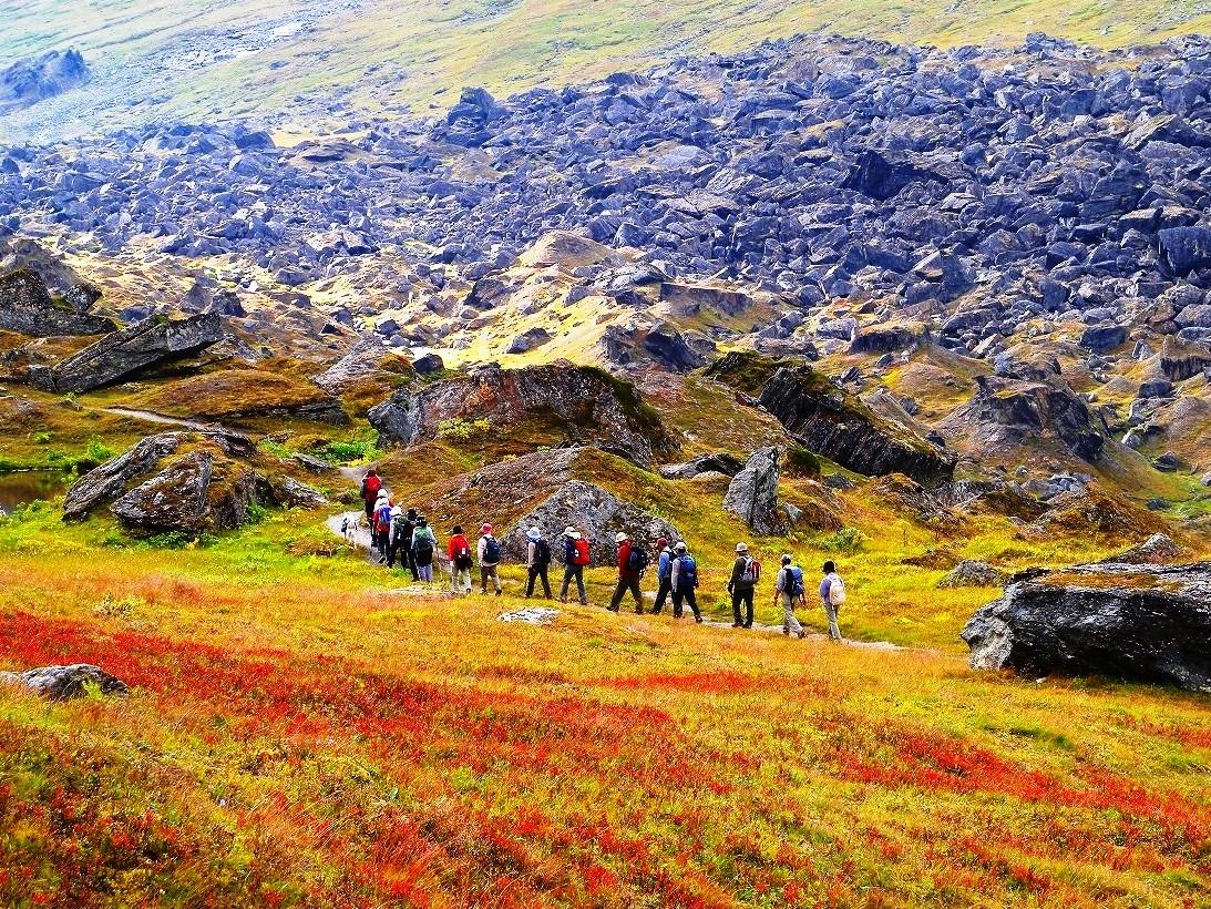 草紅葉の大地をハイキング(6日目)