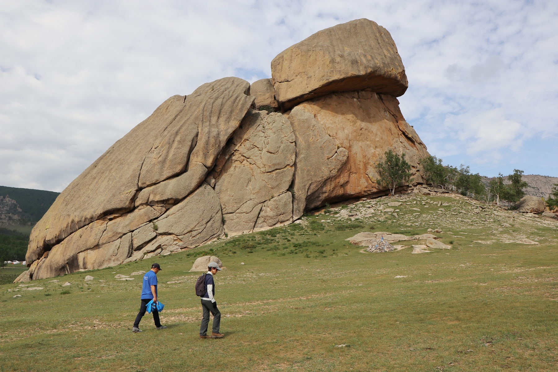 テレルジにある亀石