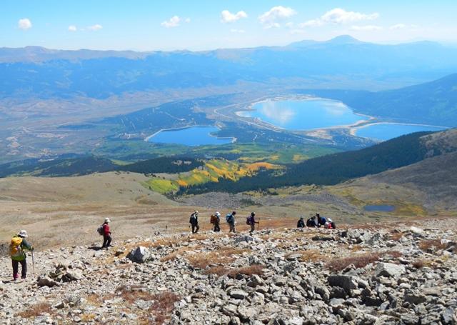 Mt.エルバート登頂後、意気揚々と下山