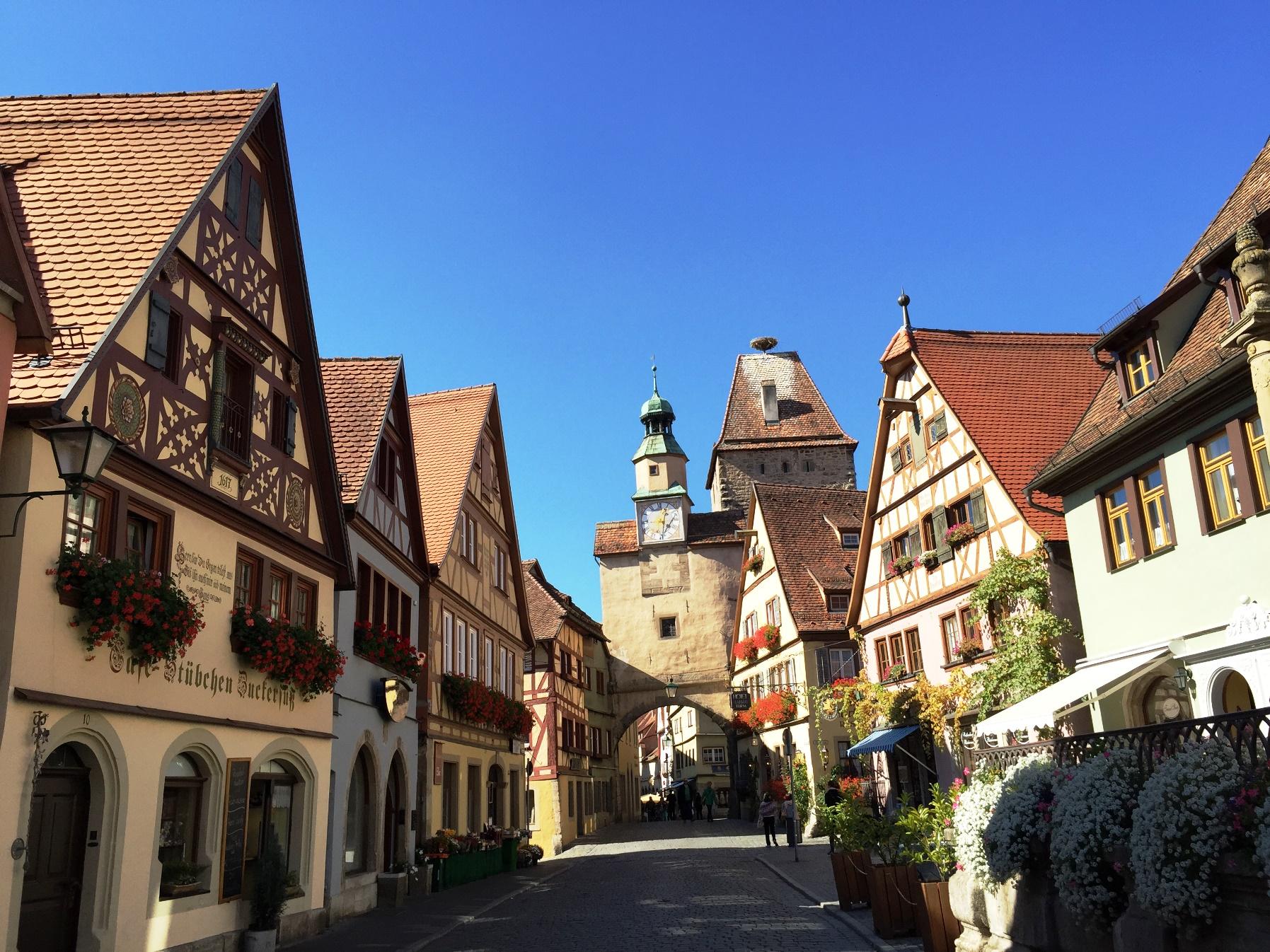中世の街並みが残るローテンブルク(2日目)