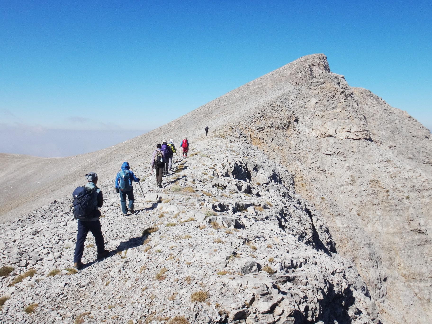 スコーリオ・ピークへと続く頂上稜線(6日目)