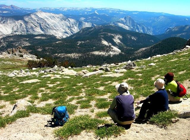 Mt.ホフマン山頂付近よりハームドームをのぞむ