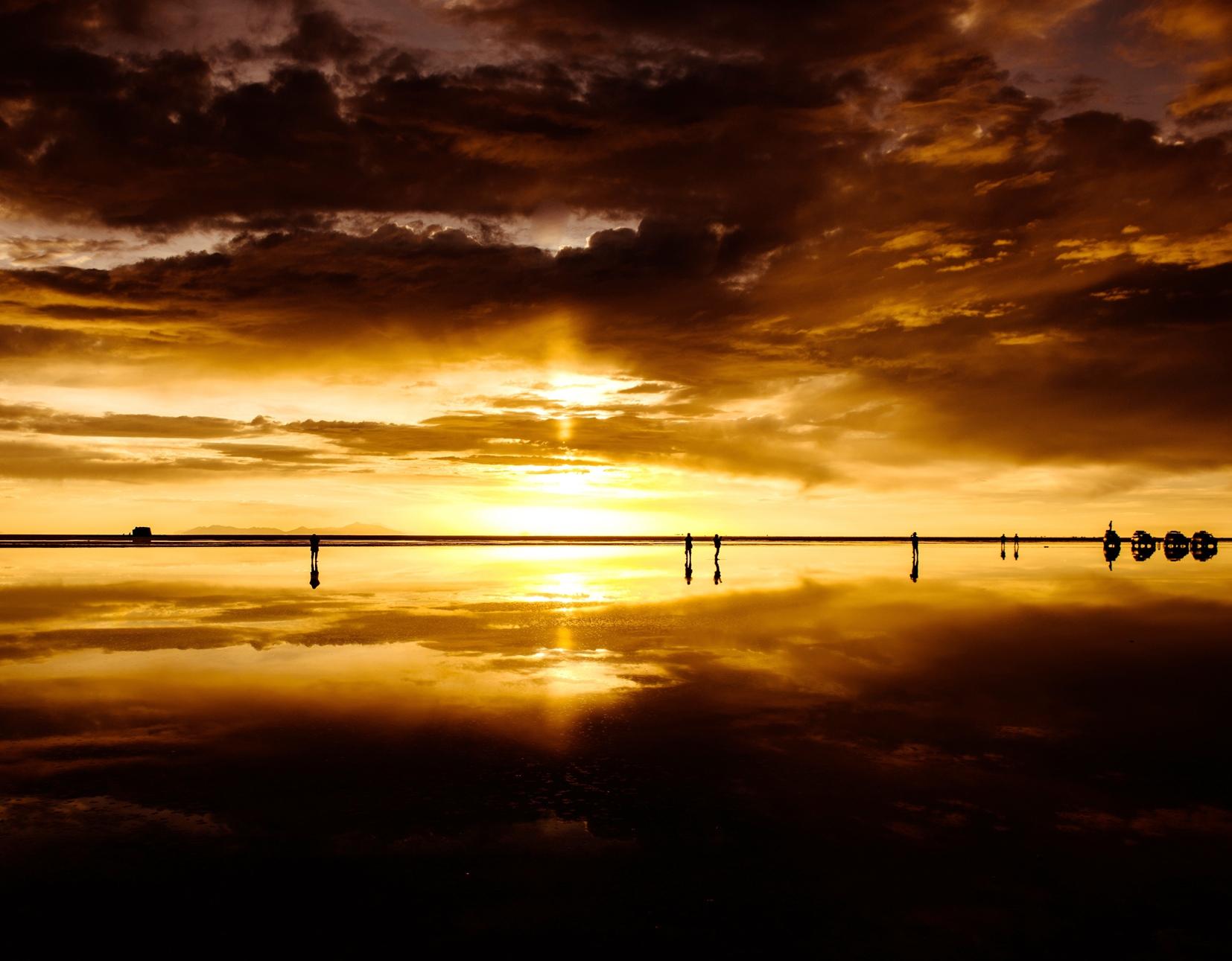 2018年大晦日、ウユニ塩湖で迎えるサンセット(4日目)