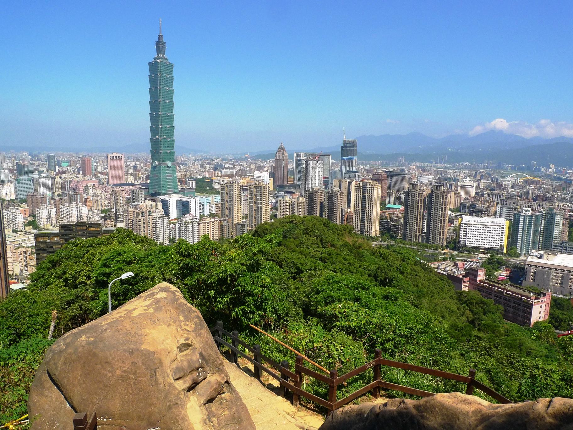 台北市内中心部に自然が残る象山からの眺め(1日目)