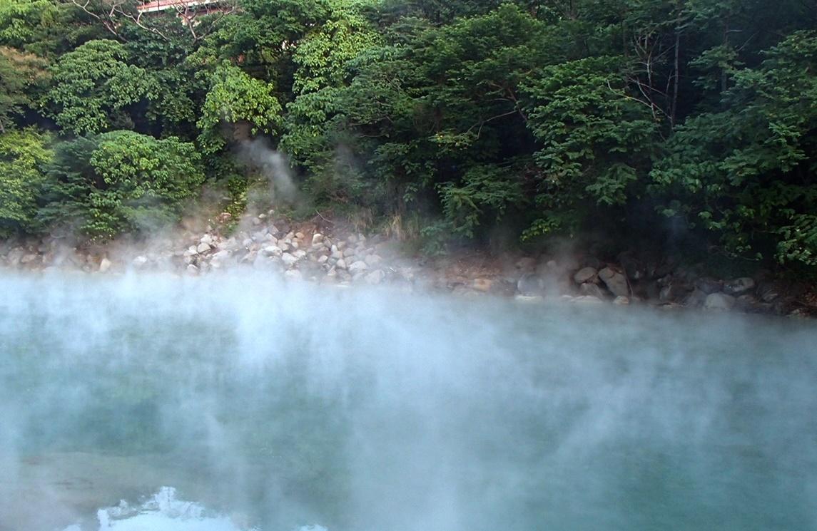 北投温泉の地熱谷