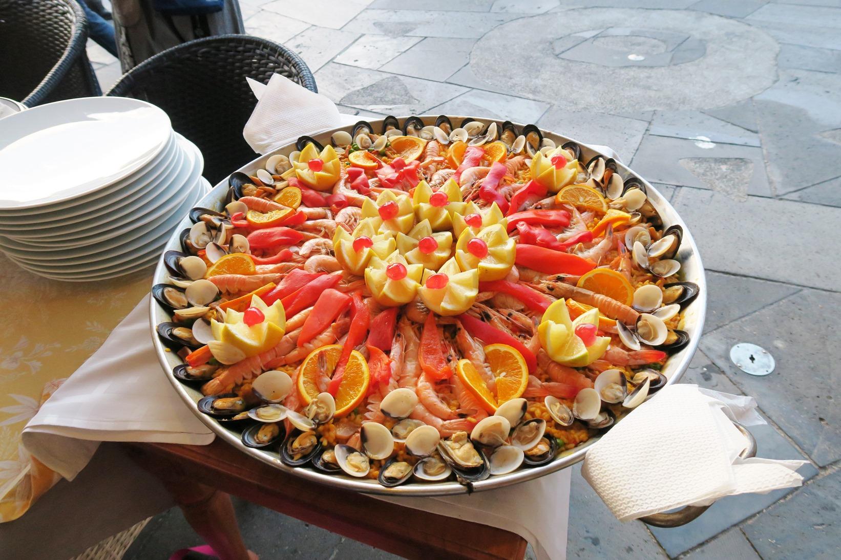 おいしいスペイン料理(パエリア)