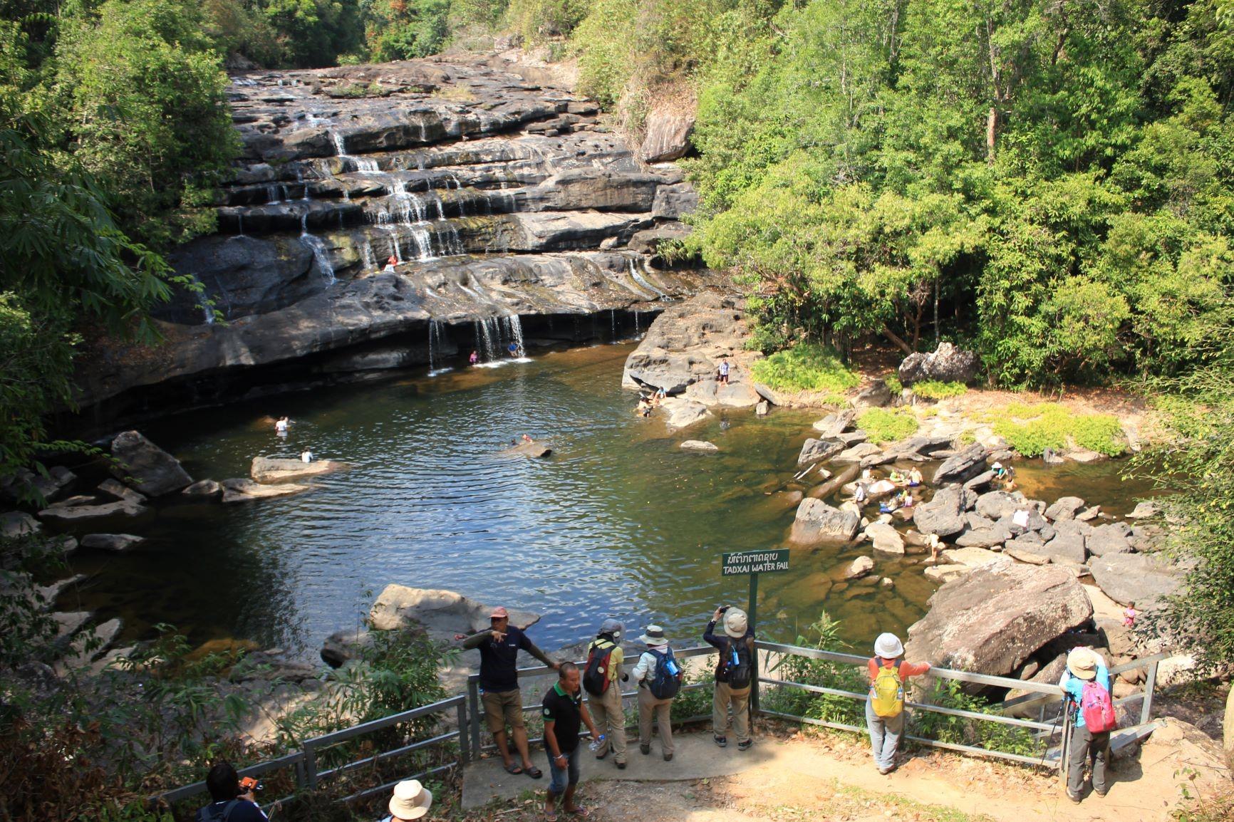 プー・カオ・クワイ国立公園のタートサイの滝(2日目)