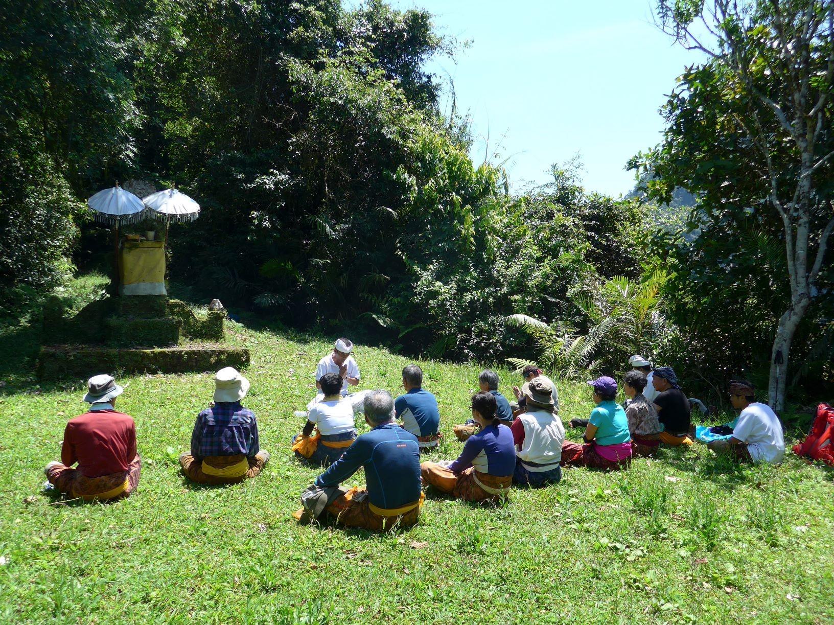 バリ島式の瞑想を体験(2日目)