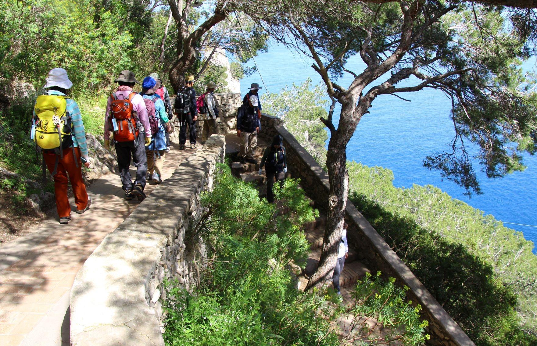 美しい海を眺めながらカプリ島を歩く(3日目)