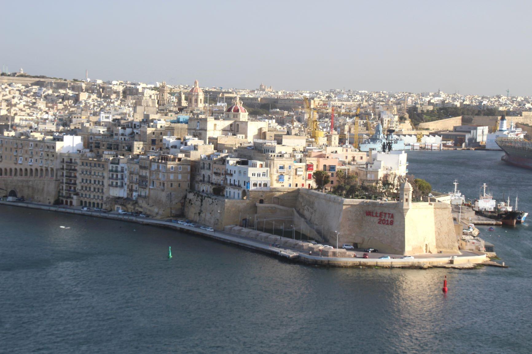 街全体が世界遺産に登録されている城塞都市ヴァレッタ