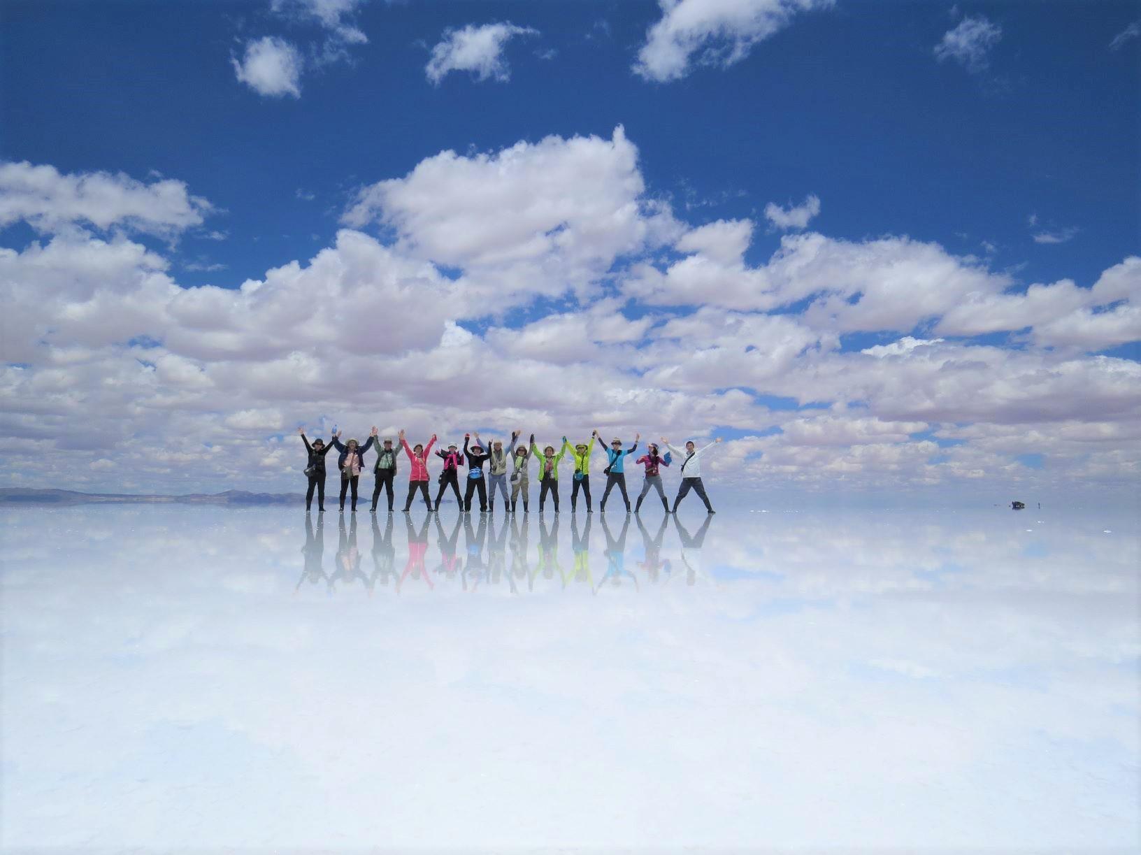 どこまでも青と白の世界が広がる