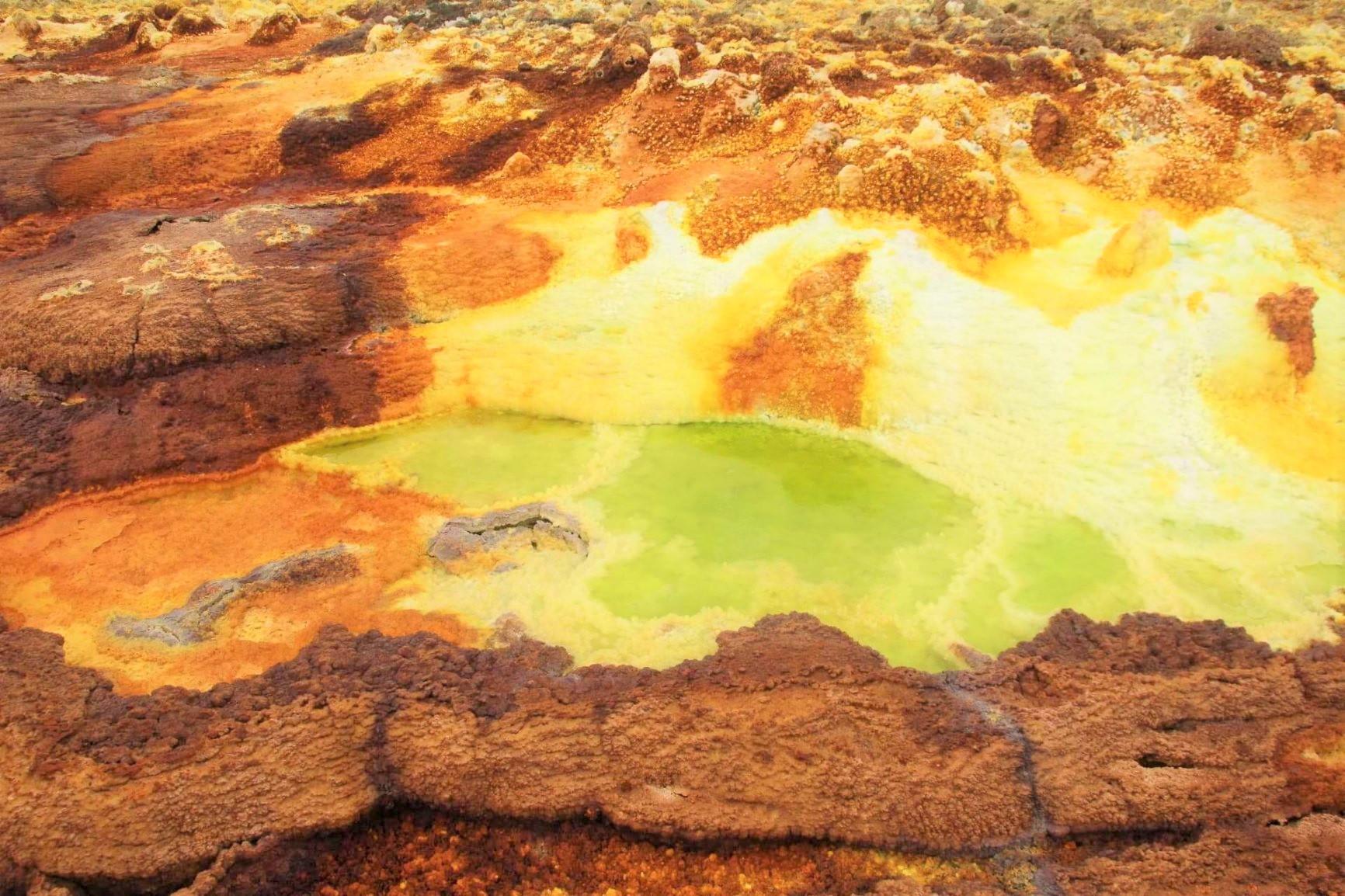 大自然の驚異ダナキル砂漠