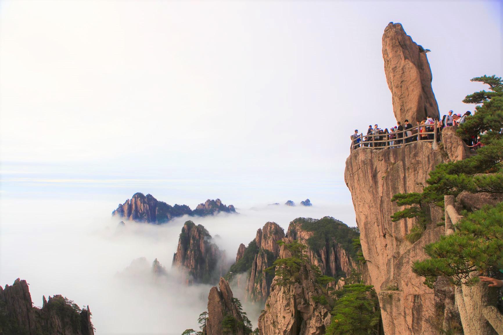 黄山を代表する奇岩・飛来石(3日目)