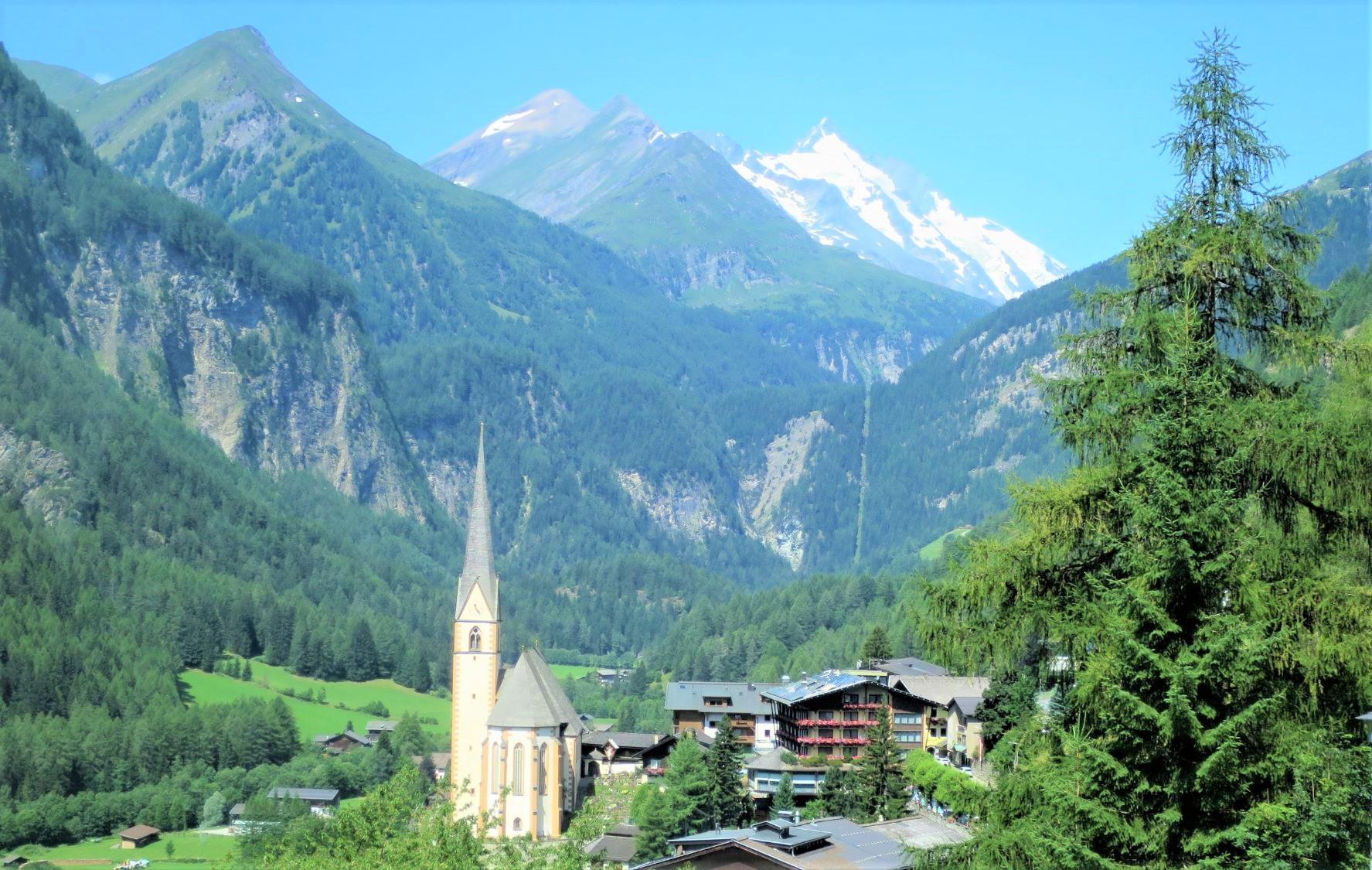 ハルシュタットから望むオーストリア最高峰グロースグロックナー(3日目)