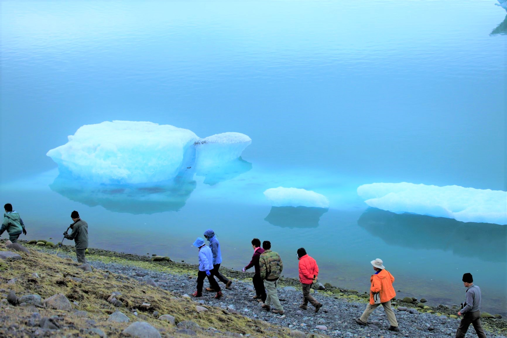 ヨークルスアゥルロゥンの氷河湖(3日目)