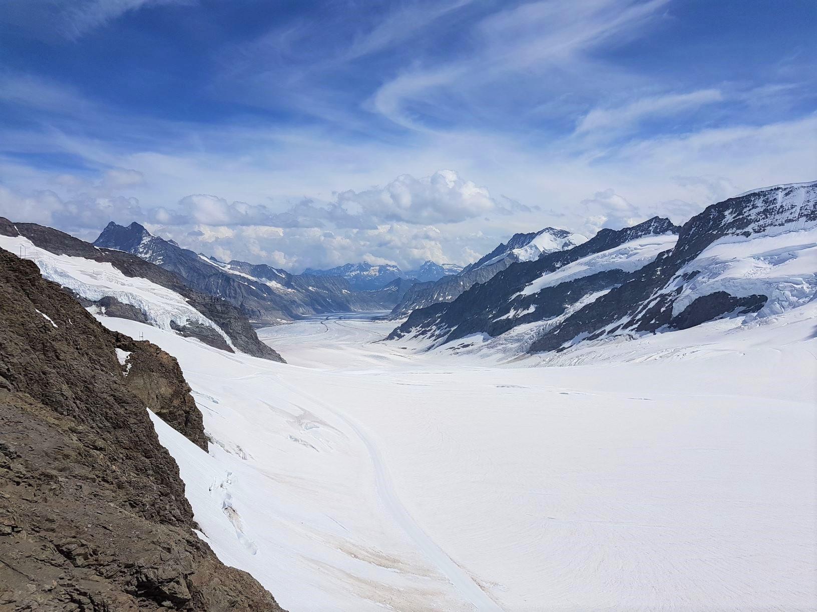 ユングフラウヨッホから見るアレッチ氷河(3日目)