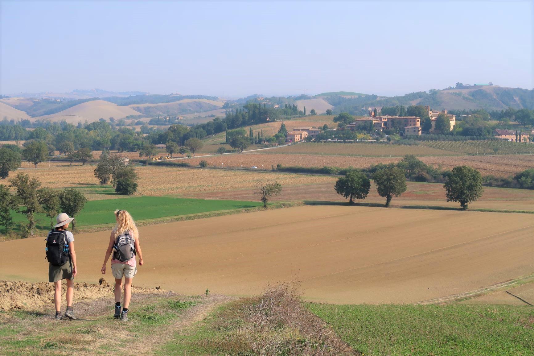 典型的なトスカーナの丘陵地帯を「イタリアで最も美しい村」のひとつブオンコンヴェントへ(7日目)