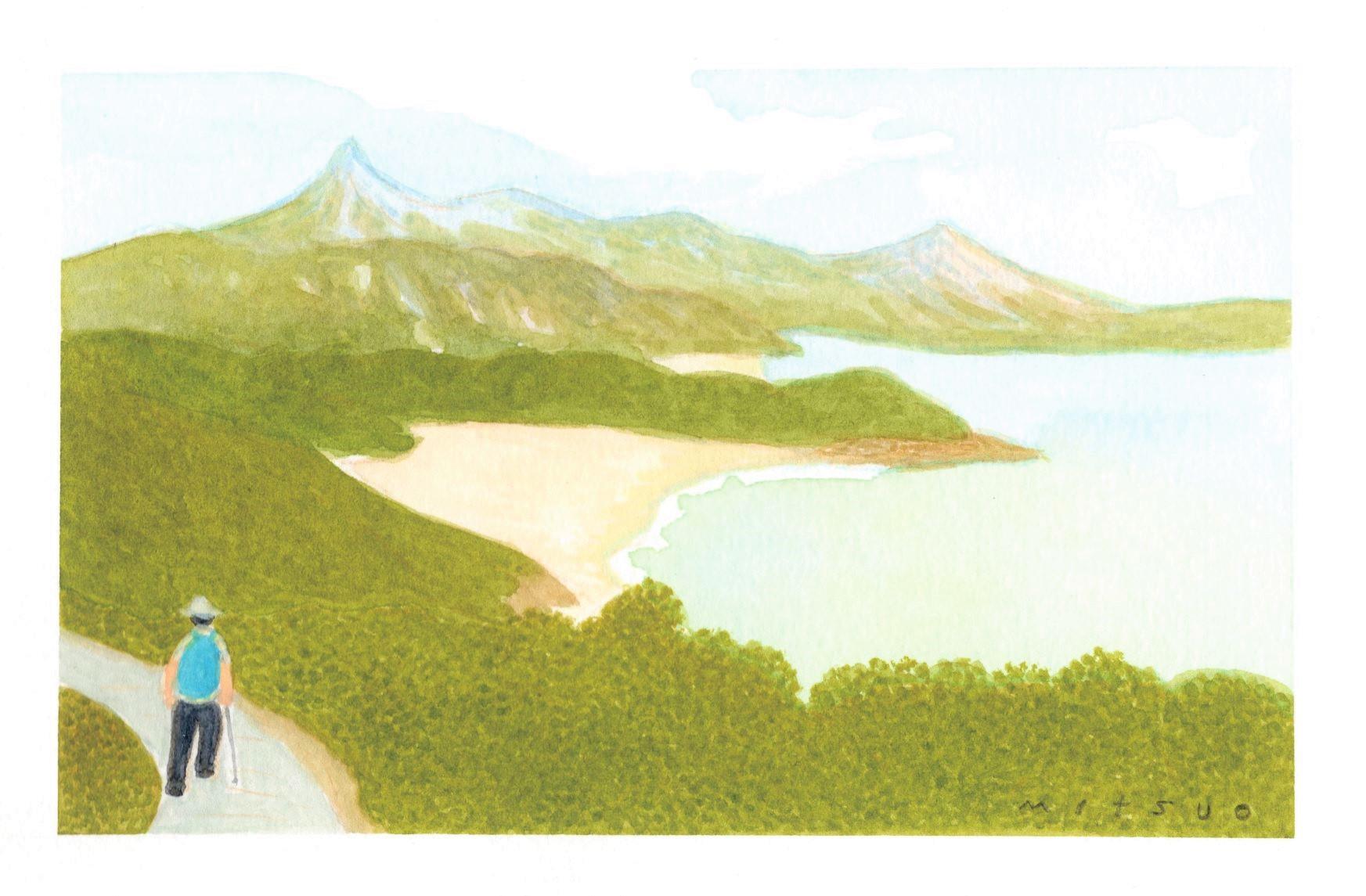 Ⓒイラストレーション:中村みつを「香港の山の思い出」