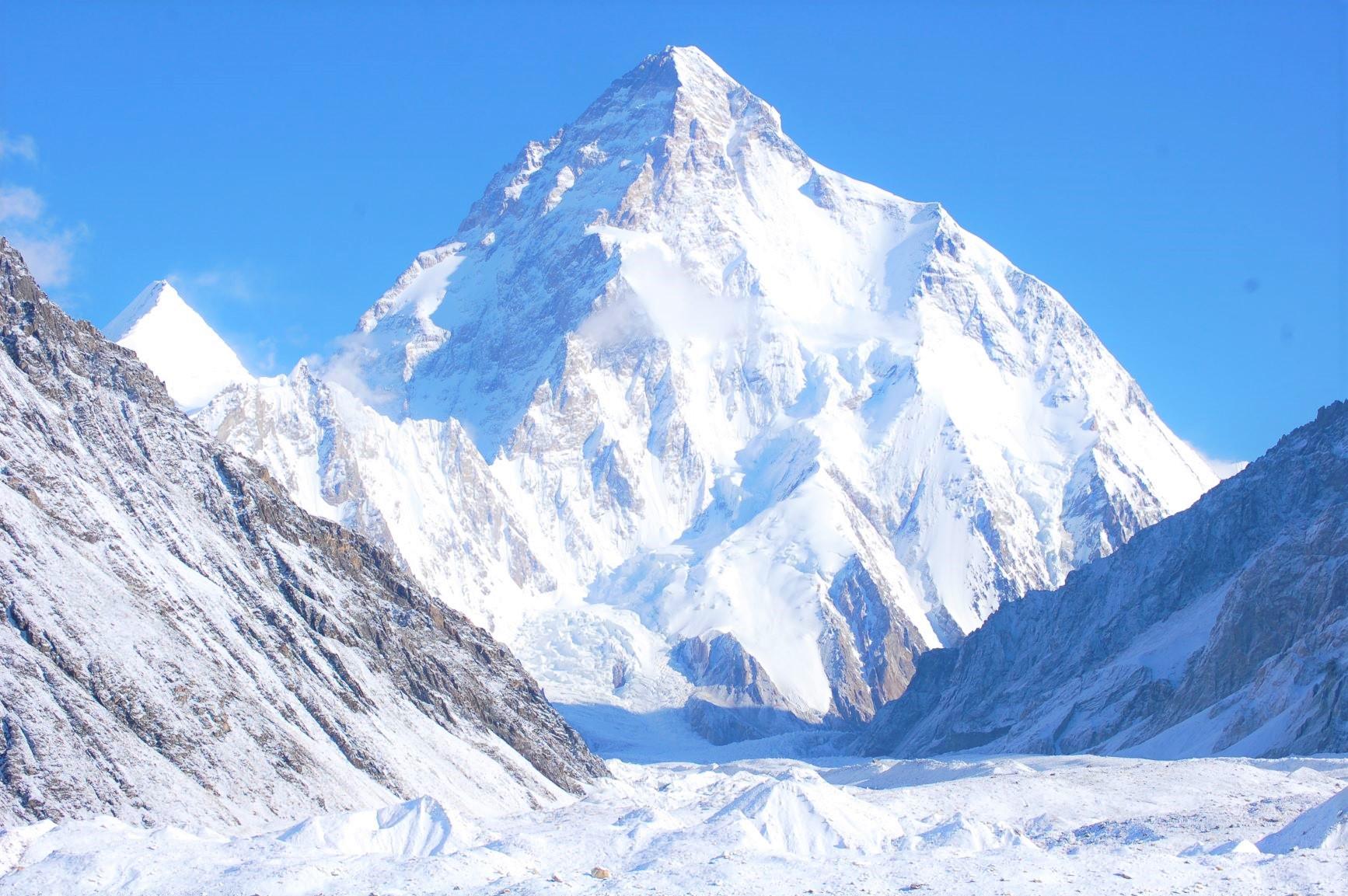 コンコルディアからの世界第2の高峰K2(8,611m)
