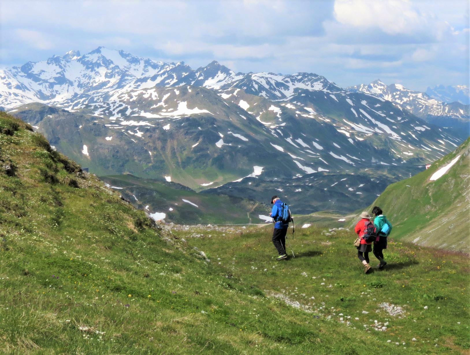 高山には残雪が残り、山麓には花が咲く(4日目)