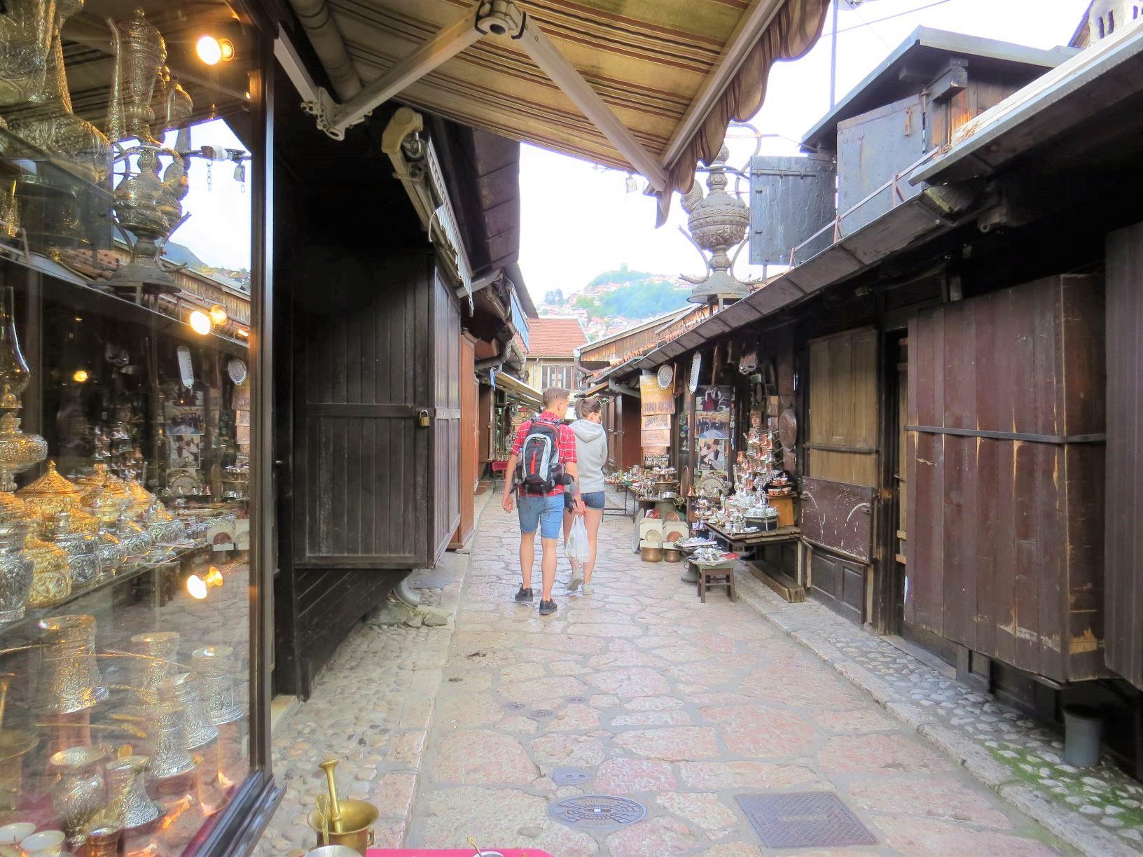 エキゾチックな雰囲気のサラエボの旧市街(7日目)