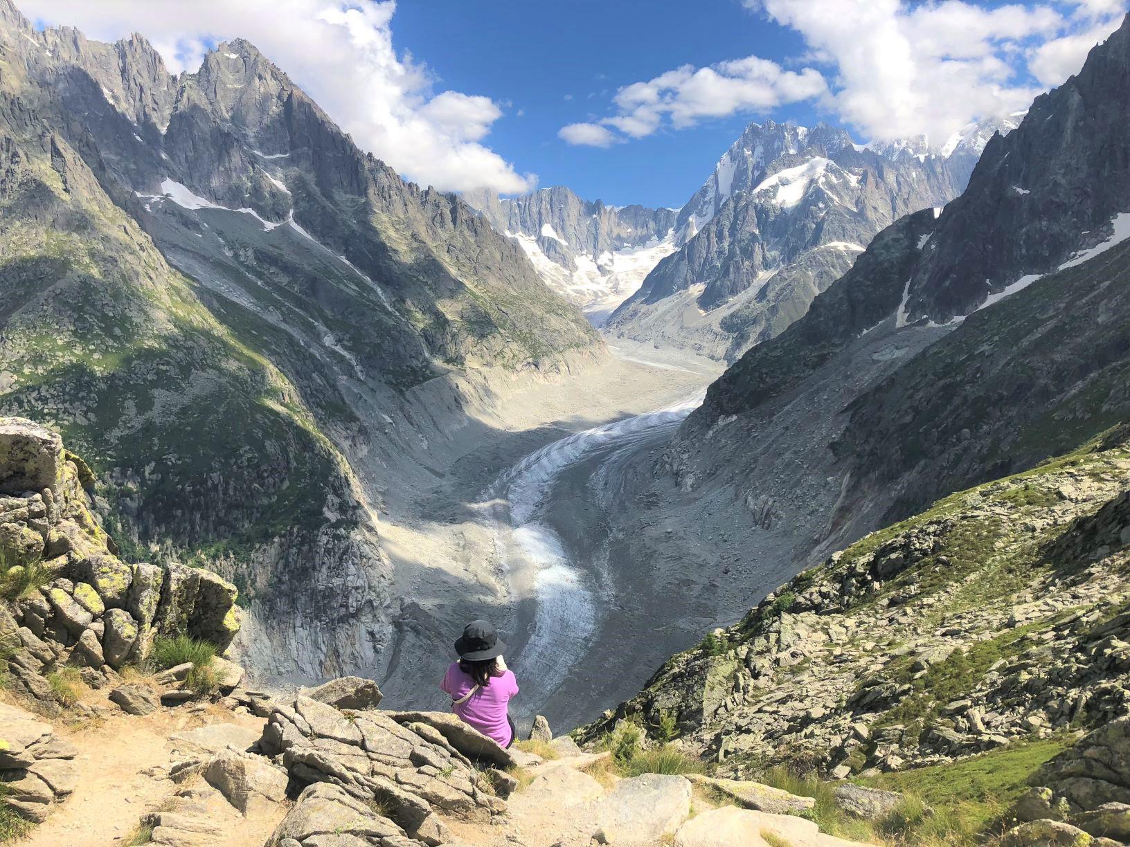 グランドジョラスとメール・ド・グラス氷河を展望する(3日目)