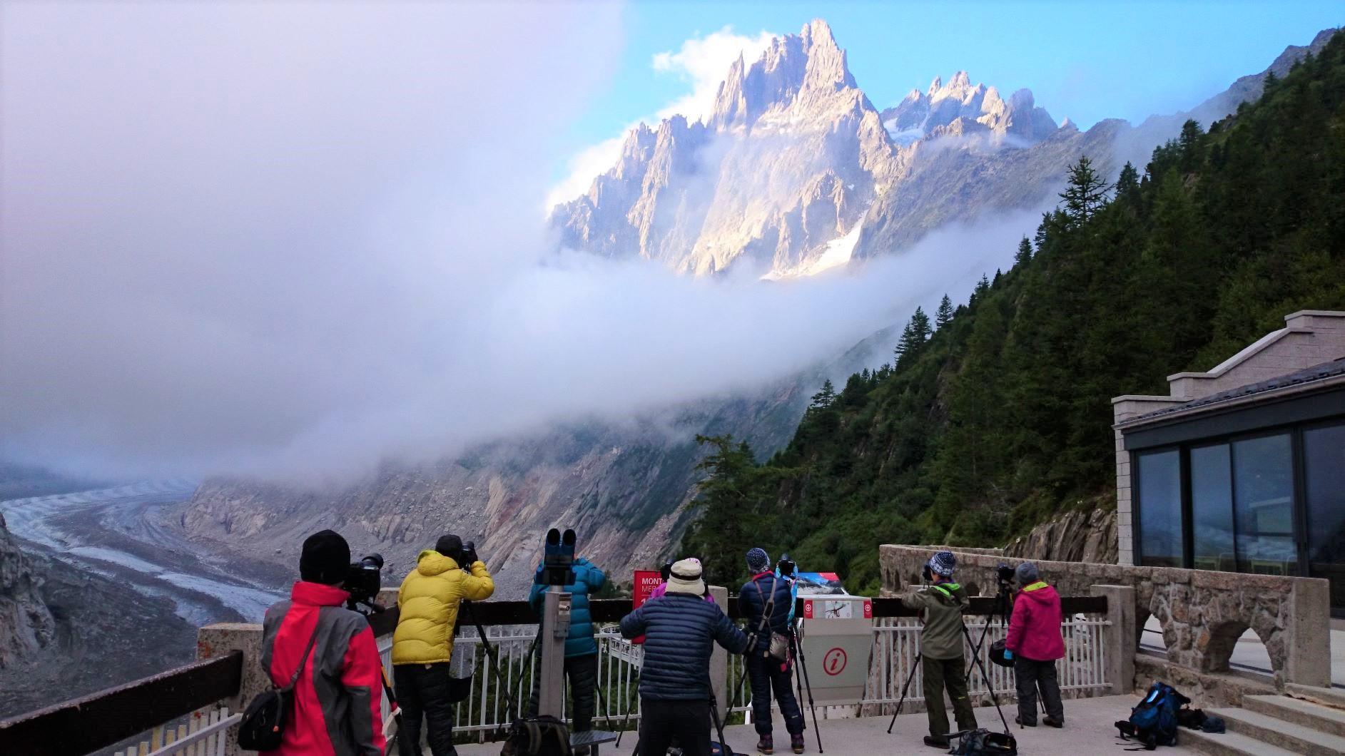 モンタンベールより望むグランシャルモ(3,445m)