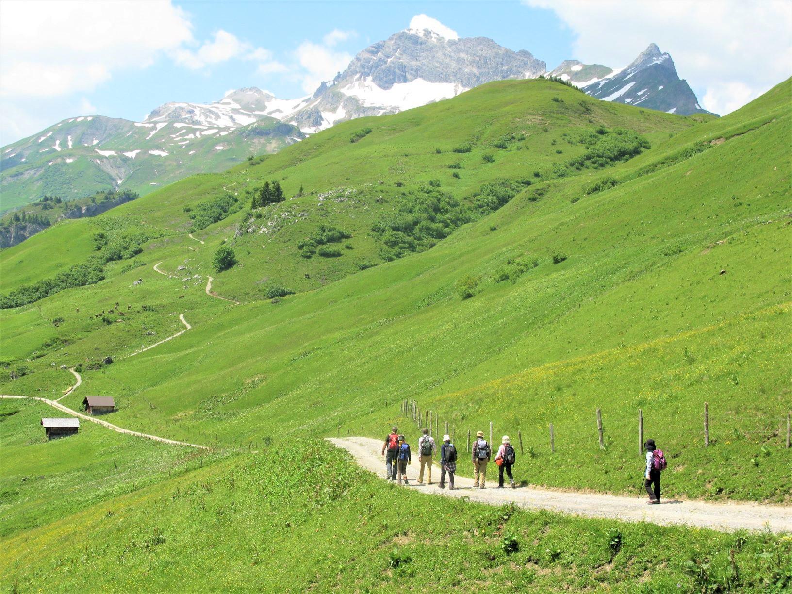 整備されたハイキングコースをゆったり歩く(2日目)