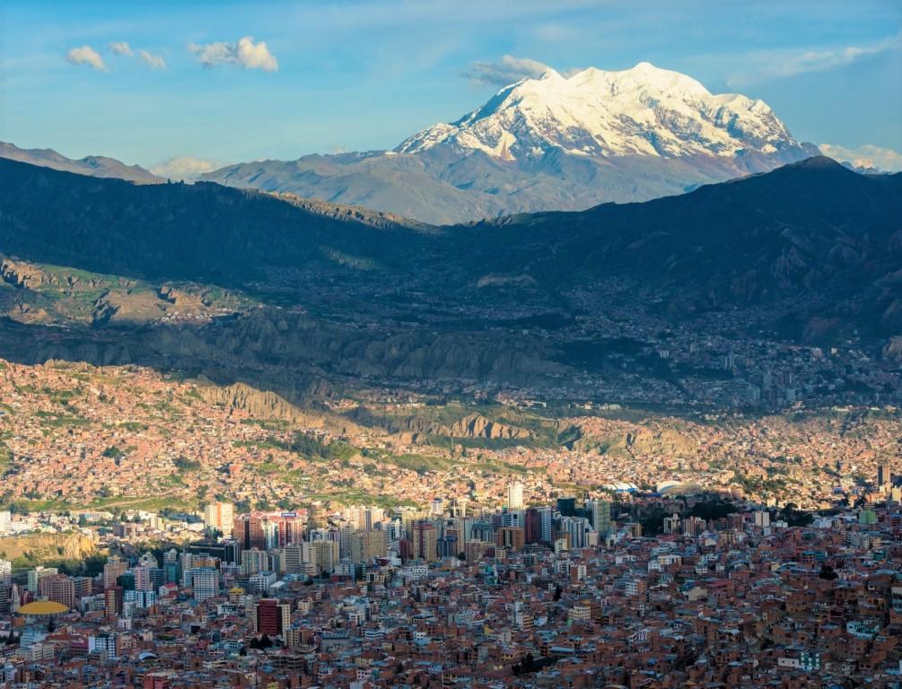 ラパス街とイリマニ峰(6,482m)(2・3・4日目)