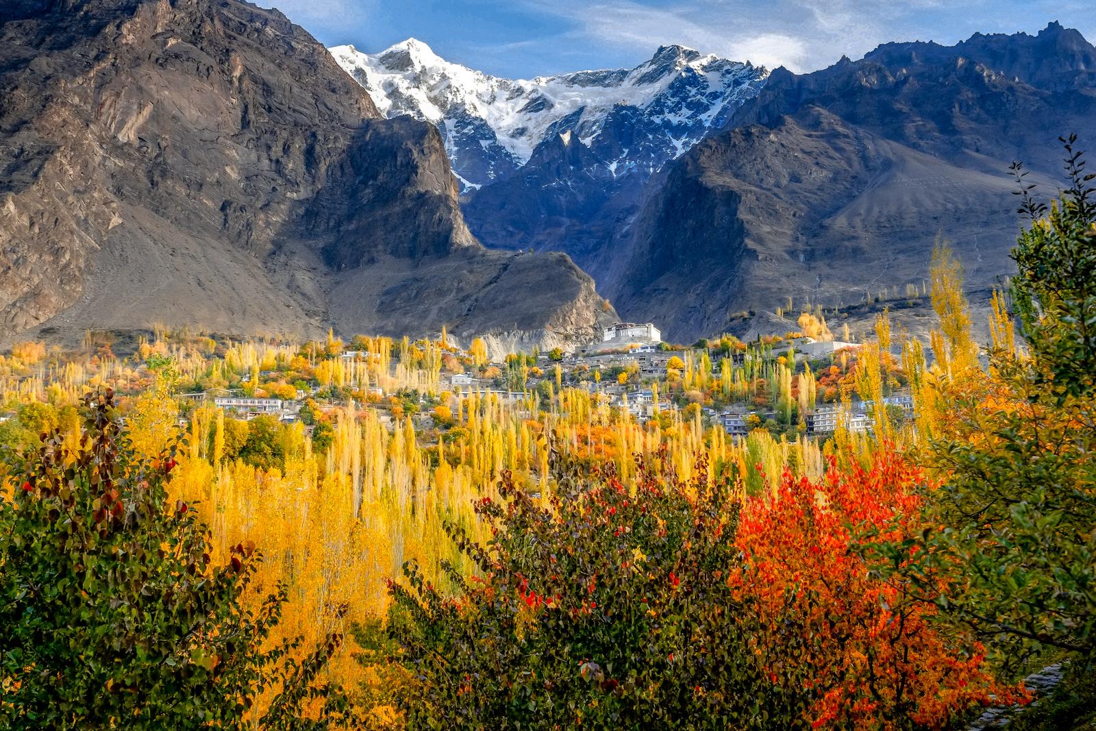 黄金色に色づく秋のフンザ