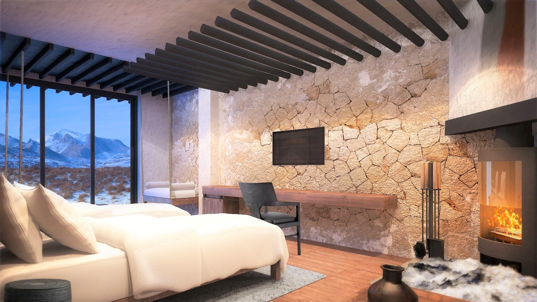 ジョムソンのホテルの部屋の一例