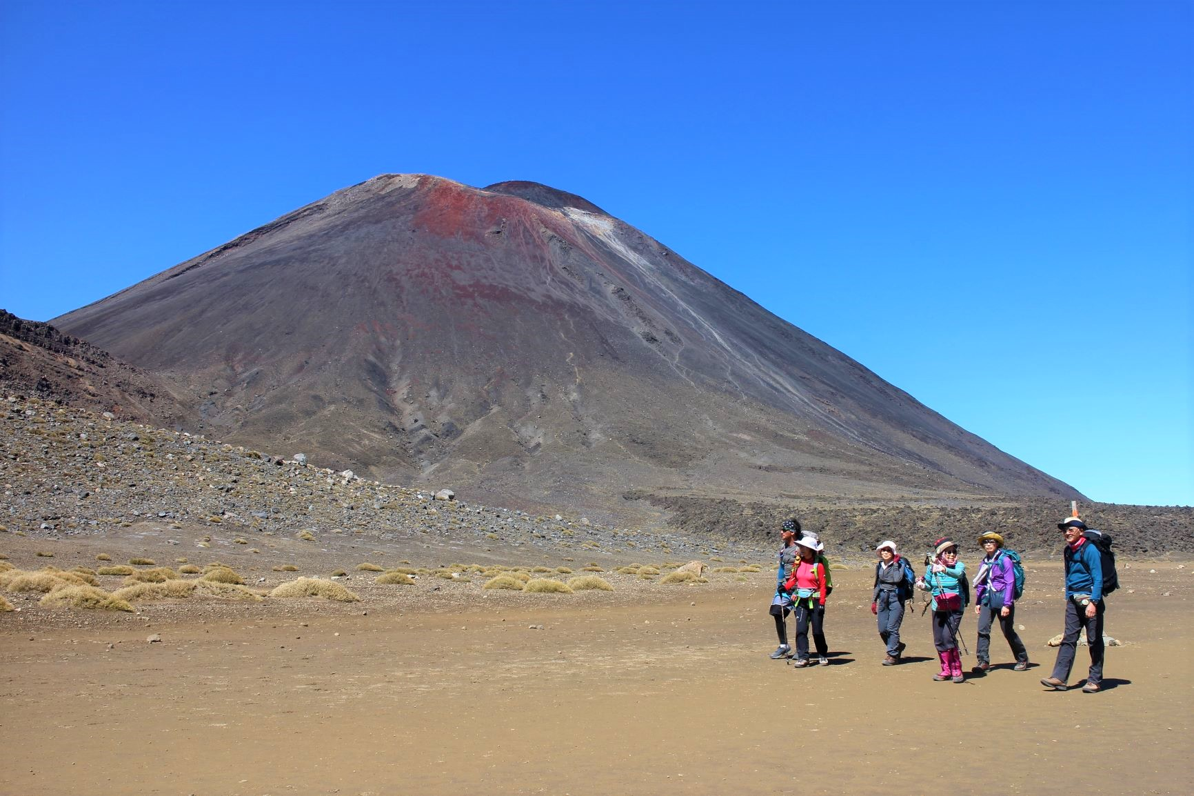 独特の火山風景が広がるトンガリロ(6日目)