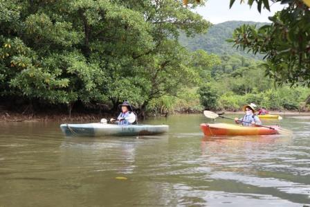 ジャングルの川をカヌーで遡上(オプショナルツアー)