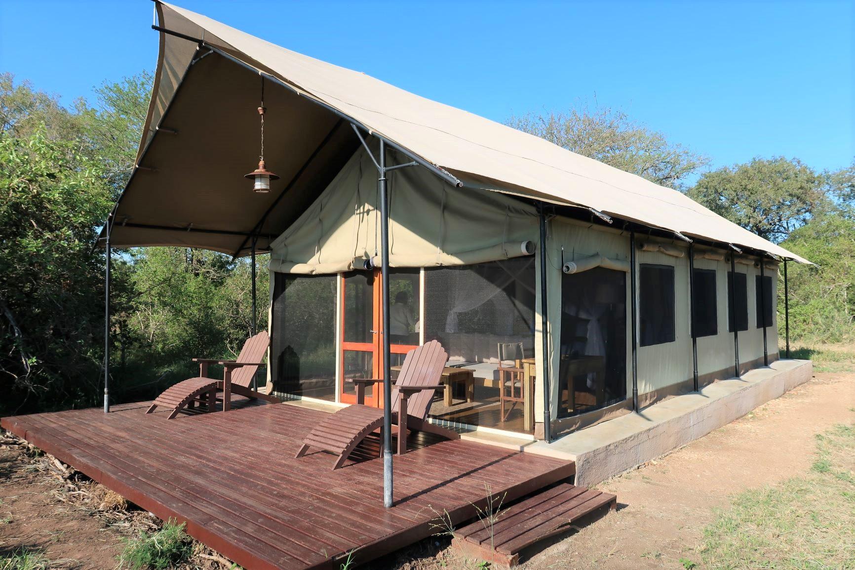 広々とした居住空間を持つクルーガーのサファリ・キャンプ
