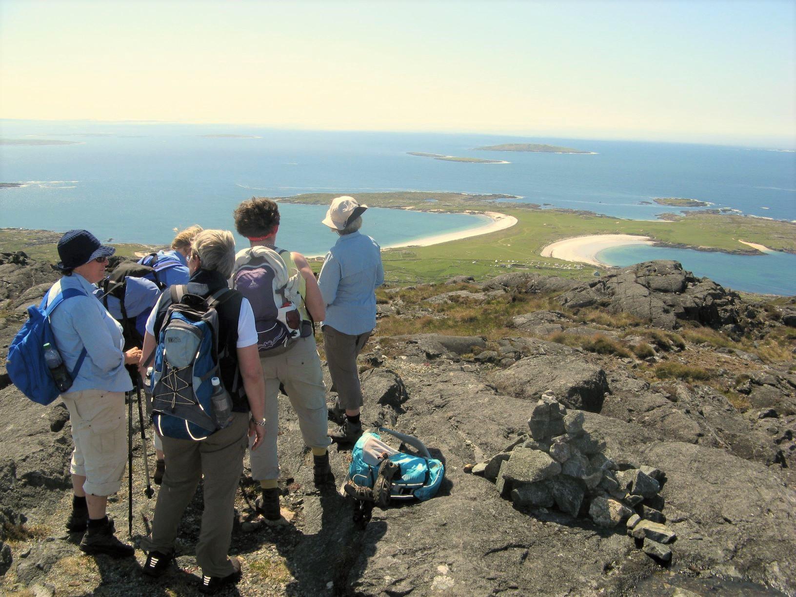 エリスベルグからの眺望、ドッグベイの砂浜を望む(5日目)