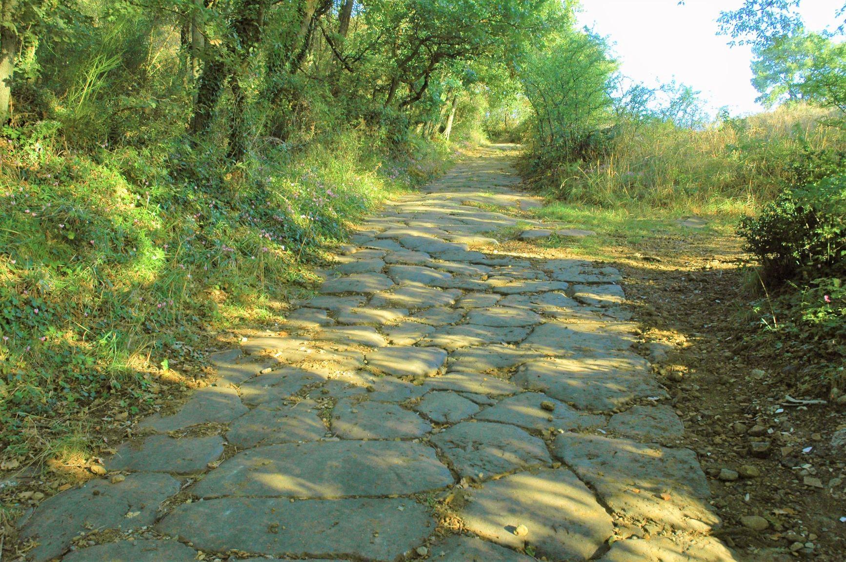 一部に残る中世からの歴史街道を歩く