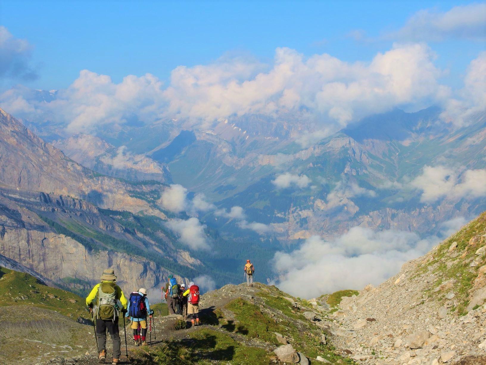 アルプス峠越えルートを縦走してエッシネンゼーのあるカンデルタールへ(7日目)