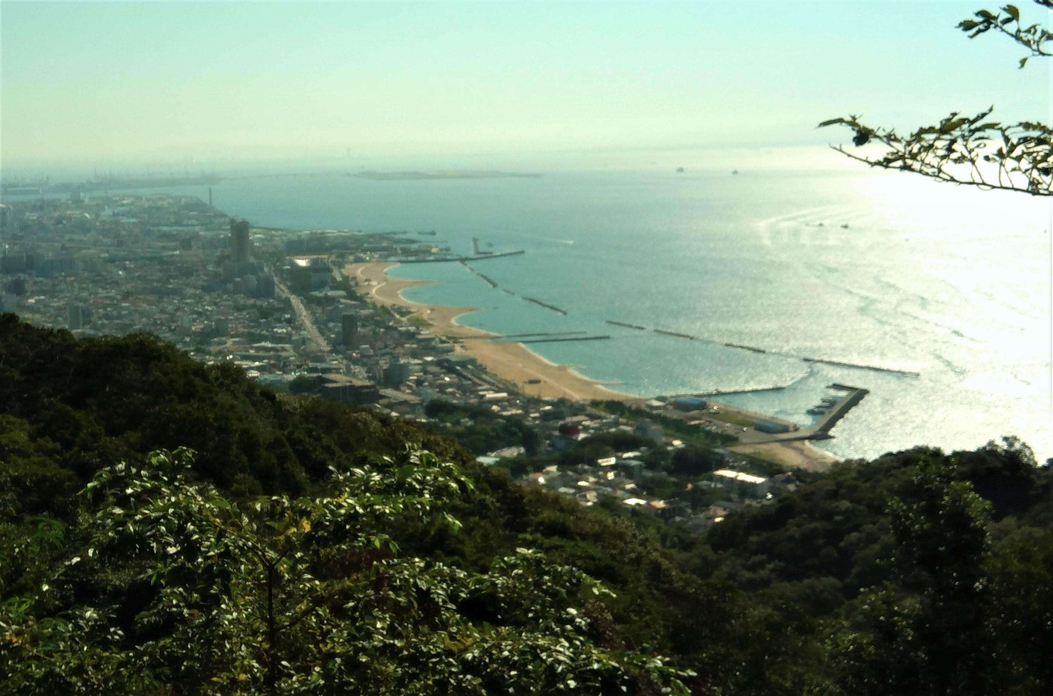 旗振山山頂から須磨浦の眺め